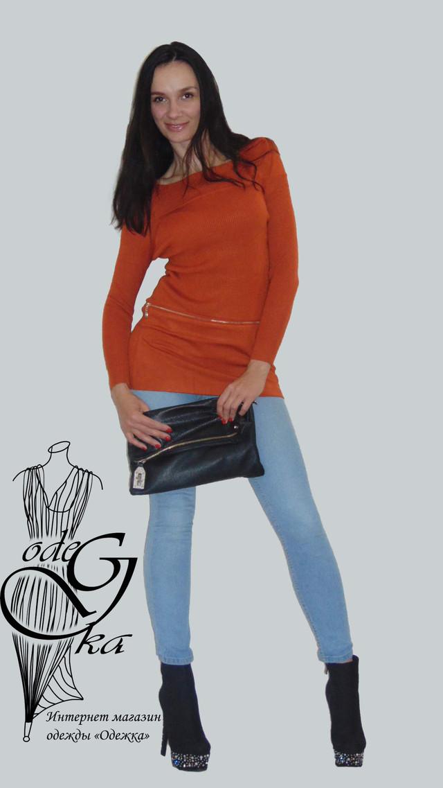 Фото-2 Женского свитера-туники со стильными рукавами Александра SvAlR02