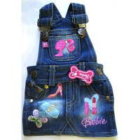 MonkeyDaze Barbie Denim Overall Dress котоновый комбинезон одежда для собак