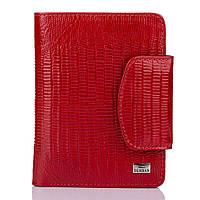 Женский кошелек портмоне кожаный компактный тонкий Desisan красный
