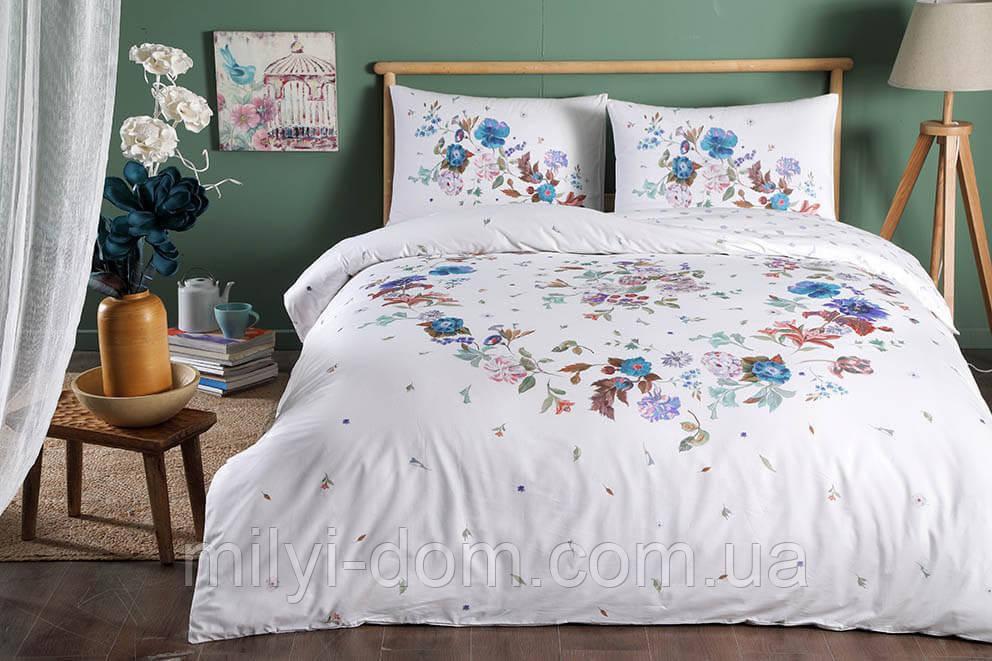 Набор постельного белья TAC Sander Blue(полуторный)