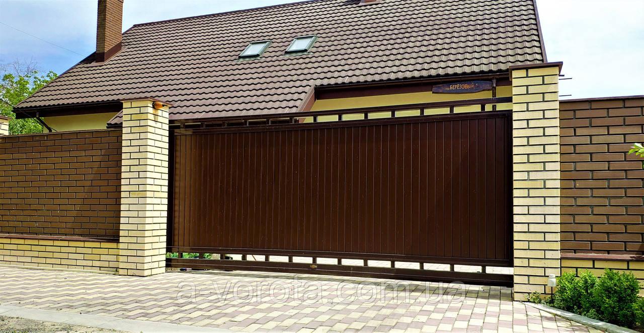 В'їзні ворота відкатні TM Hardwick ш3000 в1900 (дизайн Преміум)