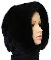 Норковая косынка цвет черный