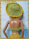 Шляпа вязаная для кукол Барби, фото 2