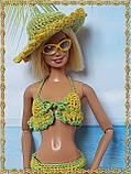 Шляпа вязаная для кукол Барби, фото 4