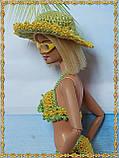 Шляпа вязаная для кукол Барби, фото 5