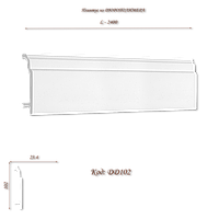 DD102 Плинтус декоративный из дюрополимера