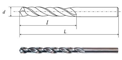 Сверла спиральные с цилиндрическим хвостовиком