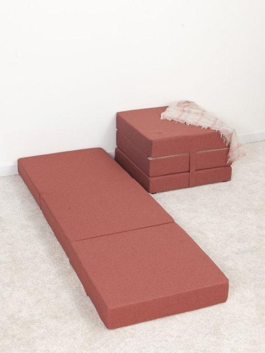 Пуфик кровать Макси сп/м 0,6х1,8 600х360х600, пуф матрас, пуфик, банкетка, раскладной пуф кровать