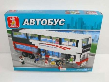 Конструктор для детей SLUBAN Автобус 741 деталь арт.0335