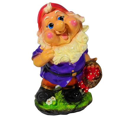 Садовая фигура BnBkeramik Гном с лукошком
