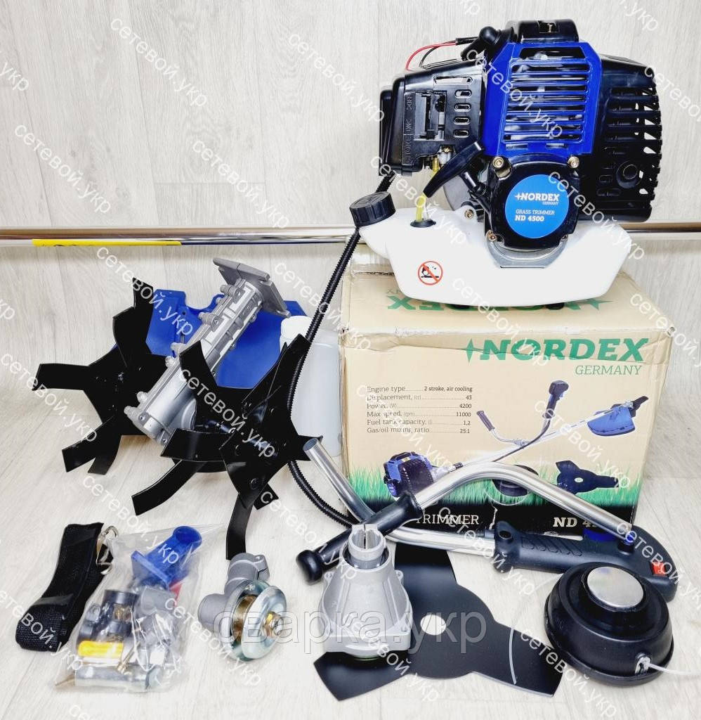 Бензокоса Nordex ND 4500 в комплекті з культиватором