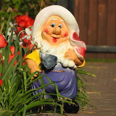 Садовая фигура BnBkeramik Гном с мухомором
