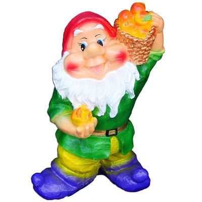 Садовая фигура BnBkeramik Гном с яблоками