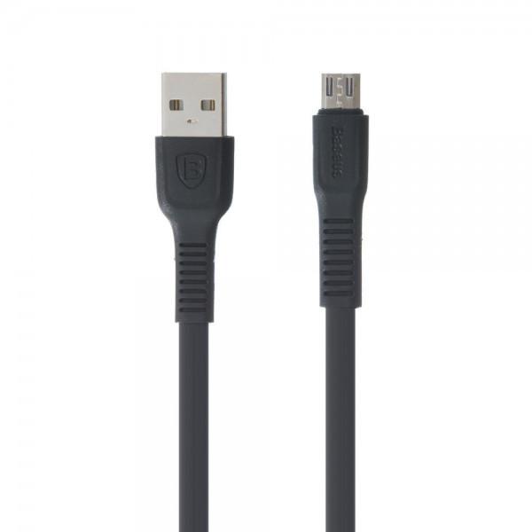 Кабель Baseus Cafule Micro USB, сіро-чорний 1метр 2,4 А (двосторонній розєм)