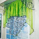 """Занавеска яркая в вензеля """"Марианна"""" в салатовом цвете, фото 6"""