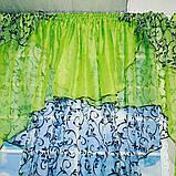 """Занавеска яркая в вензеля """"Марианна"""" в салатовом цвете, фото 8"""