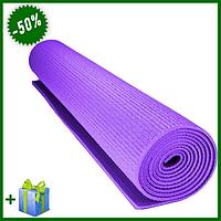 Коврик для йоги Yoga Mat в домашних условиях, коврик для фитнеса дома и спортзале