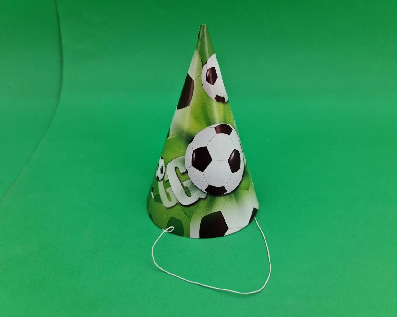 """Ковпаки святкові маленькі 20шт """"Футбол"""" (1 пач.)"""