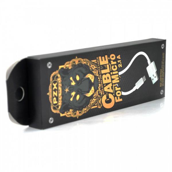 Кабель PZX S-17, Micro-USB, 1.5 A, White, довжина 1м, BOX