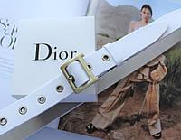 Женский ремень Dior пряжка бронза ширина 2.8 см белый