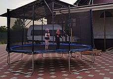 Батут Atleto 465 см. с защитной сеткой и лестничкой