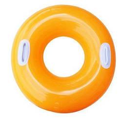 Надувной круг для плавания (оранжевый)