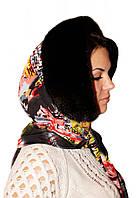 Женский капор  из меха норки цвет черный