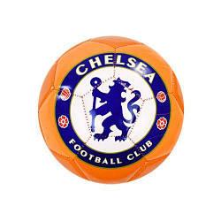 """Мяч футбольный (подойдет для детей и подростков) """"Челси"""" (оранжевый)"""