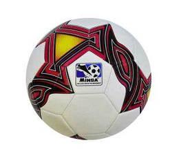 """Мяч футбольный (подойдет для детей и подростков) """"Minsa"""" (бело-красный)"""