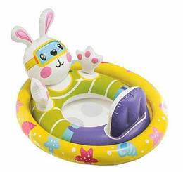 """Надувной круг-плотик детский для плавания """"Зайчик"""""""