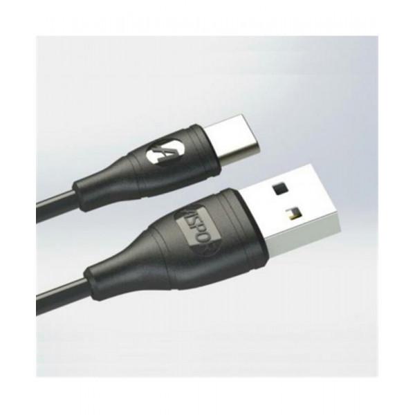 Кабель Aspor AC-03 USB Type-C 1м, чорний (910055)
