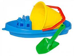 """Песочный набор игрушек """"Кораблик-2 ТехноК"""" (синий)"""