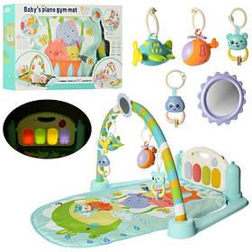 Коврик для младенца 68-44дуга, подвески,пианино,муз,св, на бат-ке,в кор-ке,