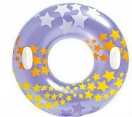 """Круг надувной детский для плавания """"Звездочки"""", 91 см Фиолетовый"""