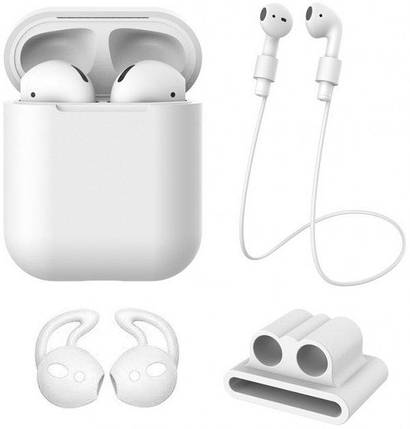 Чохол для AirPods XO 4in1 (+карабін) White, фото 2