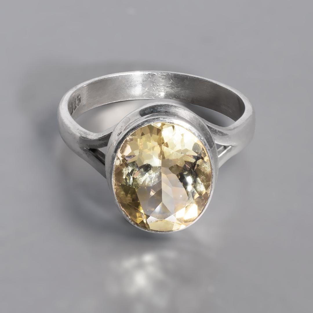 Срібне кільце з цитрином, 1701КЦ