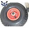 Откидные транцевые колеса КТ-400 НЕРЖАВЕЙКА для лодки с НДНД с интерцептором, самозаж-е штифты до 120кг пневмо, фото 2