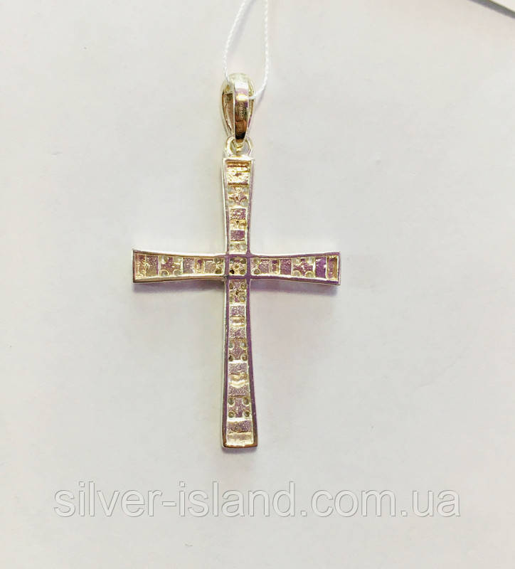 Позолоченая серебряная булавка с именами