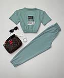 Костюм спортивний жіночий: футболка+штани, фото 2