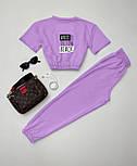 Костюм спортивний жіночий: футболка+штани, фото 3