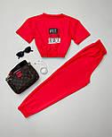 Костюм спортивний жіночий: футболка+штани, фото 4