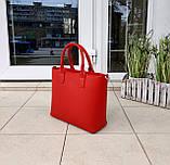 Стильна жіноча сумка італія натуральна шкіра, фото 3