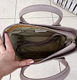 Стильна жіноча сумка італія натуральна шкіра, фото 8