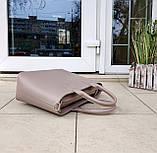 Стильна жіноча сумка італія натуральна шкіра, фото 5