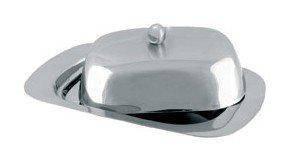 Масленка нержавеющая Maestro MR-1650   тарелка с крышкой для масла Маэстро, емкость под масло Маестро