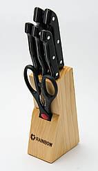Набір ножів з нержавіючої сталі на підставці MAESTRO MR-1400 (7 пр.) | кухонний ніж Маестро | ножі Маестро