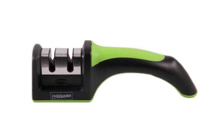 Точилка механическая для ножей Maestro MR-1492 зеленая | ножеточка Маэстро | точилка для ножей Маестро
