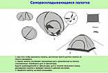Палатка 3х местная автоматическая туристическая кемпинговая с вентиляцией универсальная для кемпинга, фото 6
