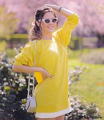 Худи-платье женское Diva HD-177yellow