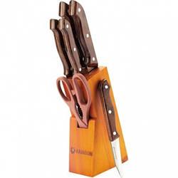 Набір ножів на дерев'яній підставці Maestro MR-1404 7 предметів